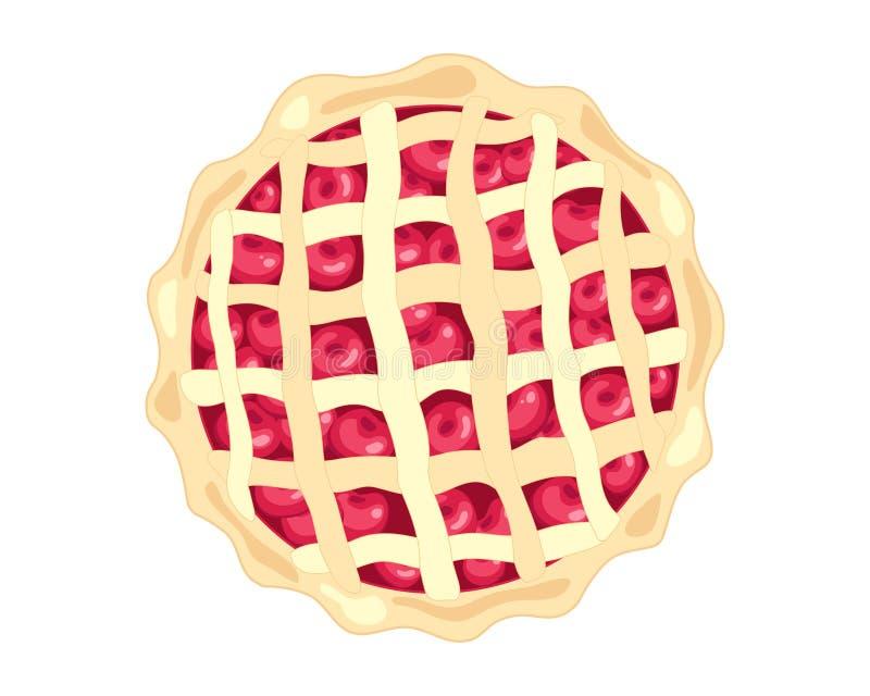 美国樱桃饼 库存例证