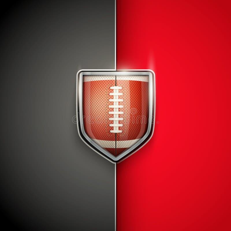 美国橄榄球优质模板  库存例证