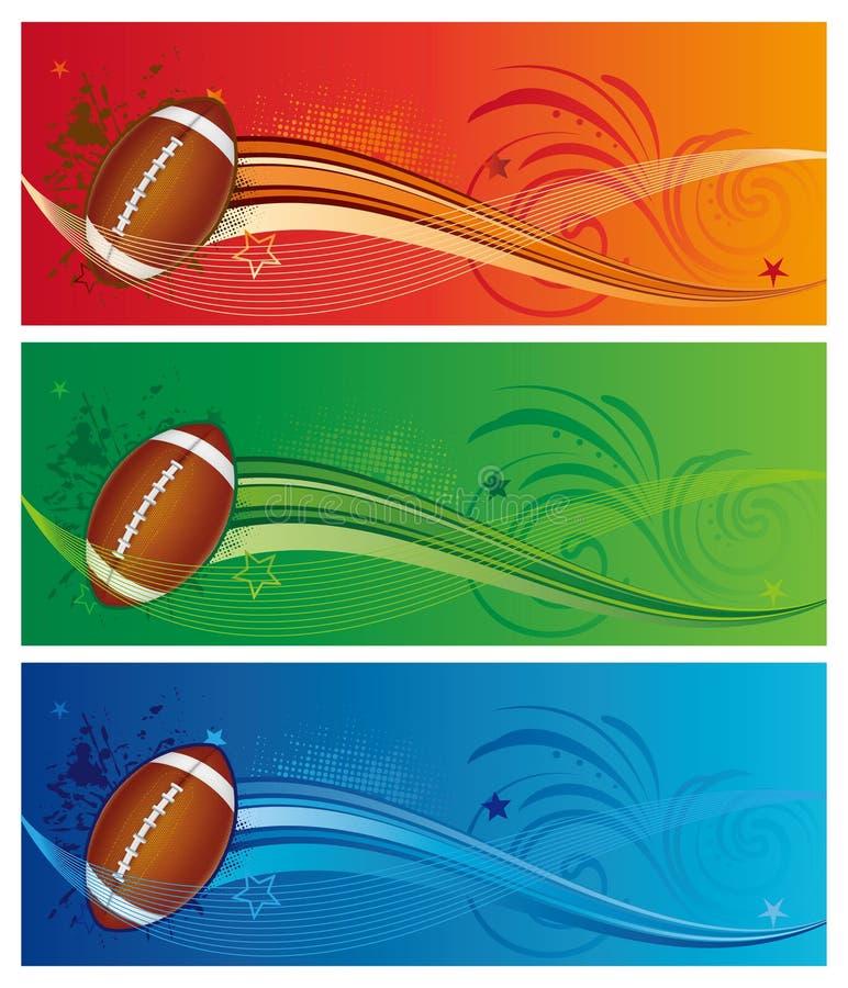 美国橄榄球体育运动 库存例证