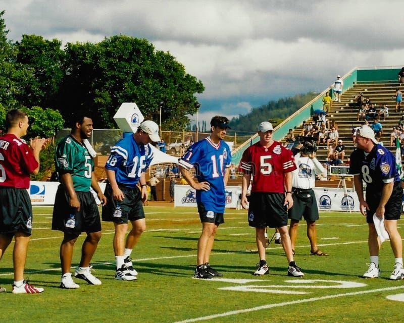 2001美国橄榄球联盟QB挑战参加者 免版税库存图片