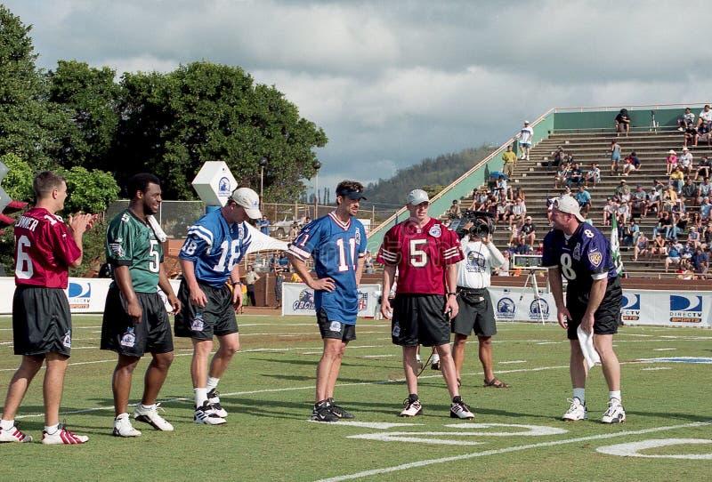 2001美国橄榄球联盟QB挑战 图库摄影