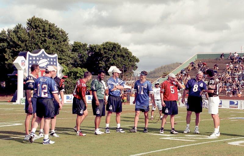 2001美国橄榄球联盟QB挑战 库存图片