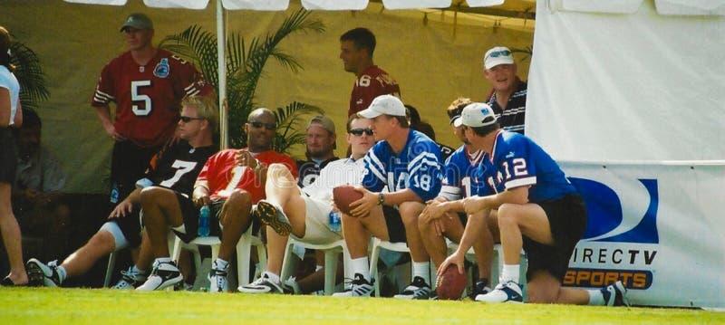 2001美国橄榄球联盟QB挑战 库存照片
