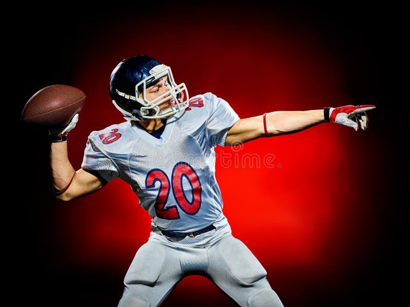 美国橄榄球运动员人被隔绝 免版税库存照片