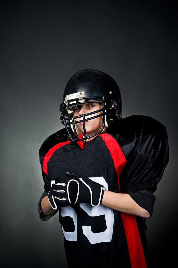 美国橄榄球运动员 库存图片