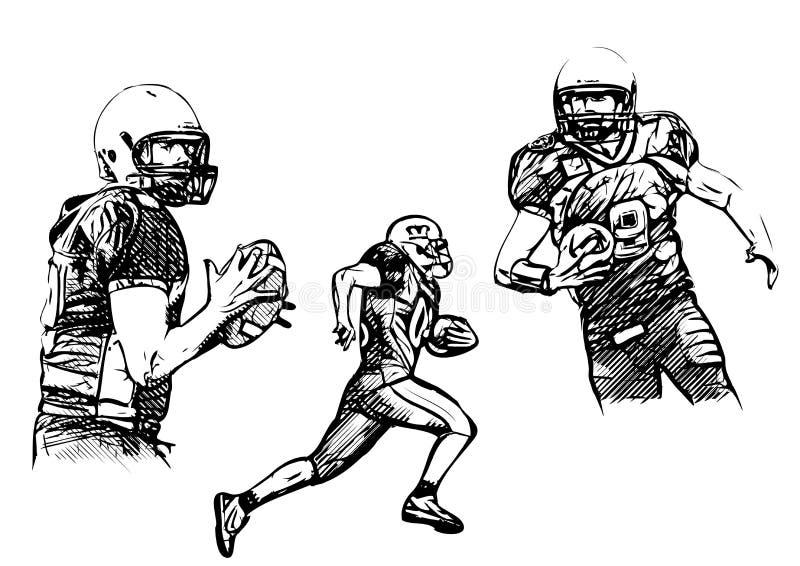 美国橄榄球运动员 库存例证