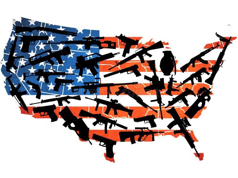 美国武器 向量例证