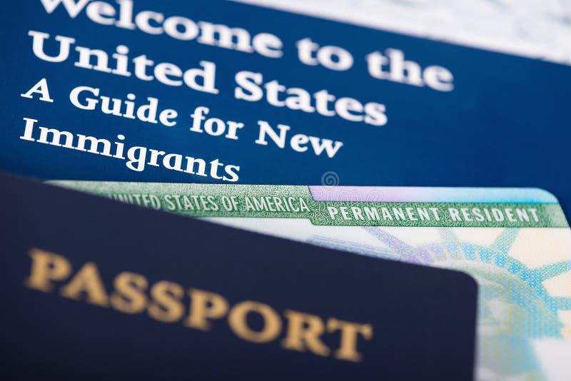 美国永久居民卡片 库存照片
