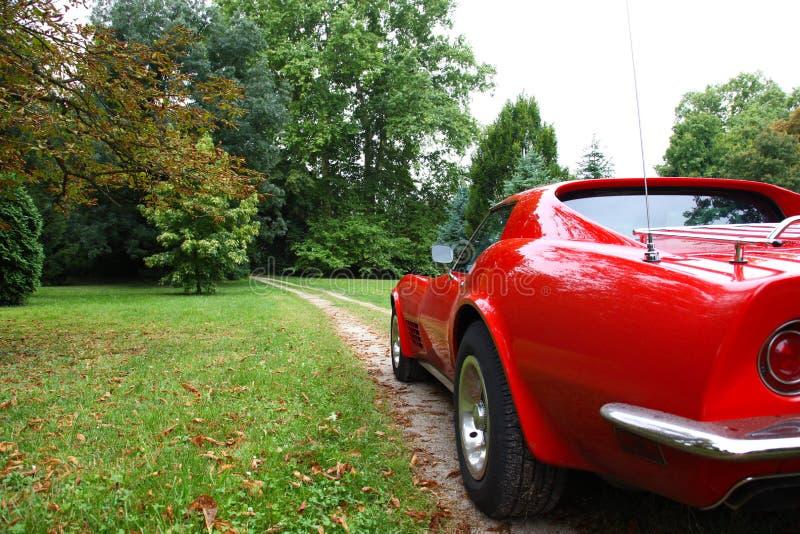美国汽车红色 免版税库存图片