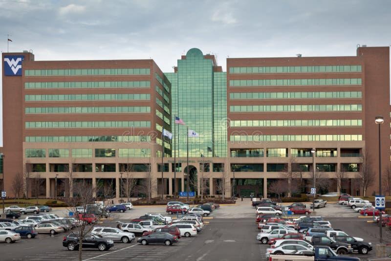 美国沃尔沃州莫甘敦 — 2012年1月28日:WVU医院 库存照片