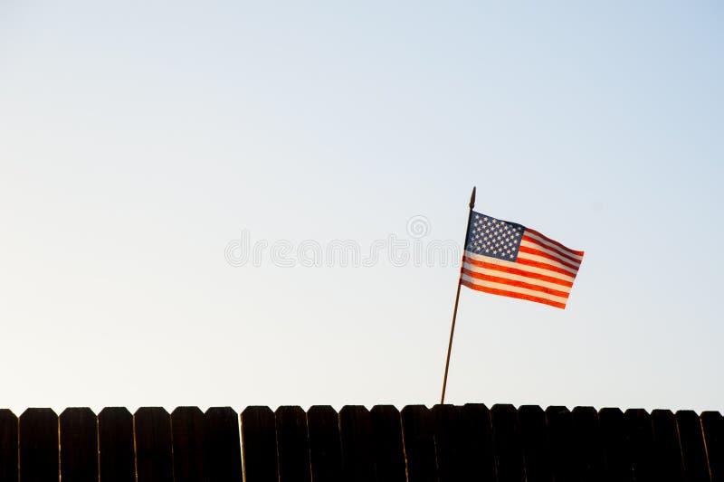 美国沙文主义情绪与风在加利福尼亚,美国 库存图片