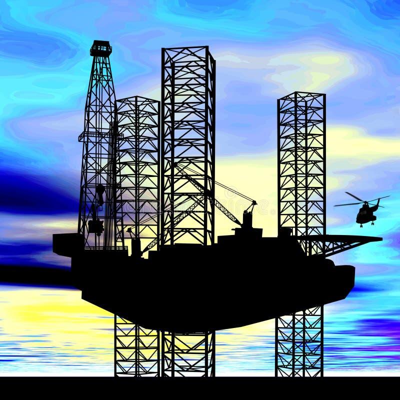 美国油气产业概念 库存照片
