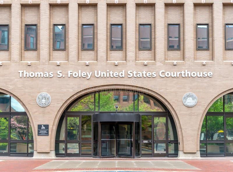 美国法院大楼在斯波肯,华盛顿 库存图片