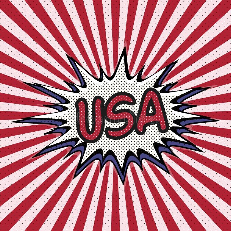美国流行艺术,可笑的讲话泡影的声明 美国 皇族释放例证
