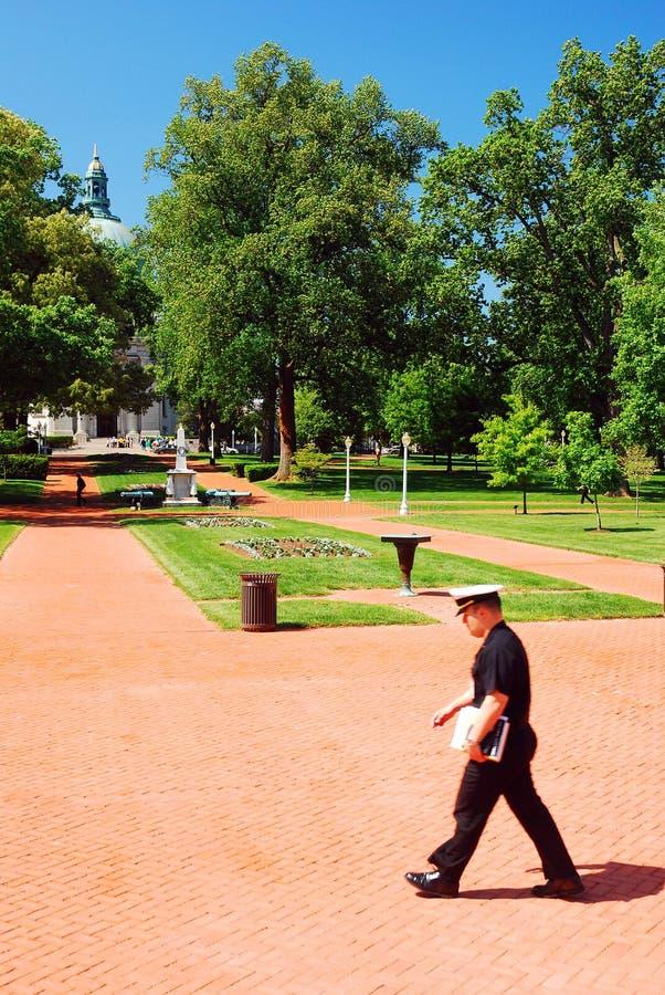 美国海军学校在安纳波利斯 免版税库存照片