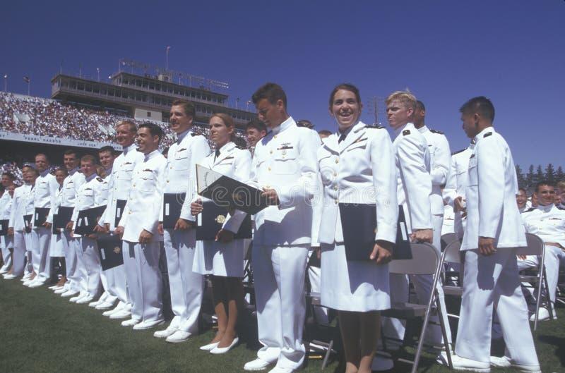 美国海军学校毕业 免版税库存照片