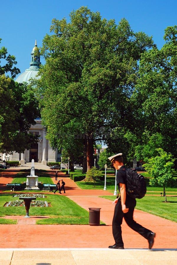 美国海军学校的军校学生,安纳波利斯 免版税库存照片