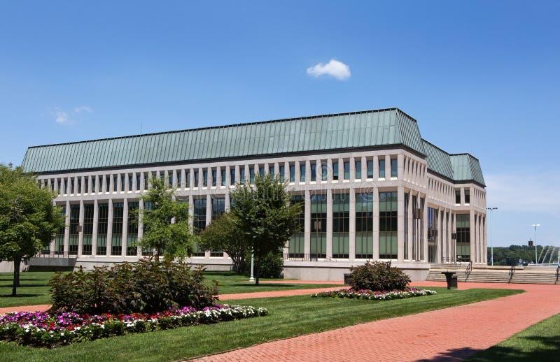 美国海军学校计算机科学霍尔 免版税库存图片