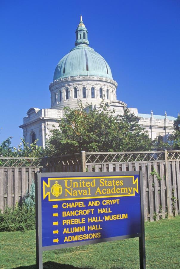 美国海军学院教堂,安纳波利斯,马里兰 免版税图库摄影