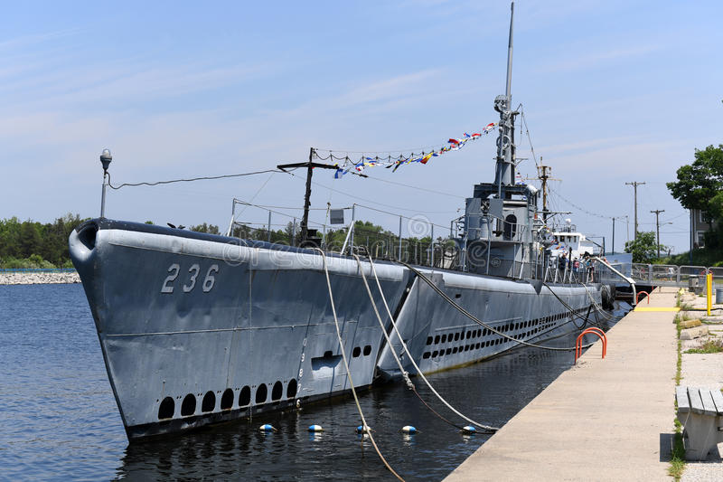 美国海军潜水艇USS Silvesides 库存照片