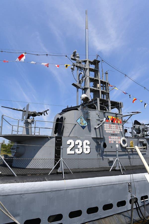 美国海军潜水艇USS Silvesides 免版税库存图片