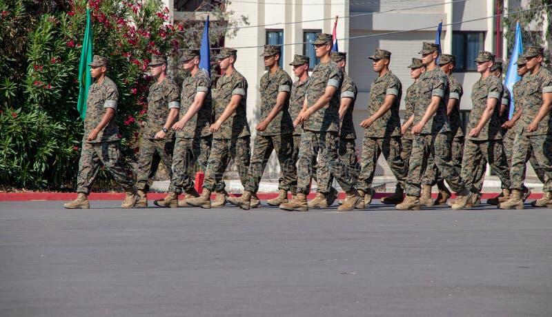 美国海军陆战队前进 免版税库存照片