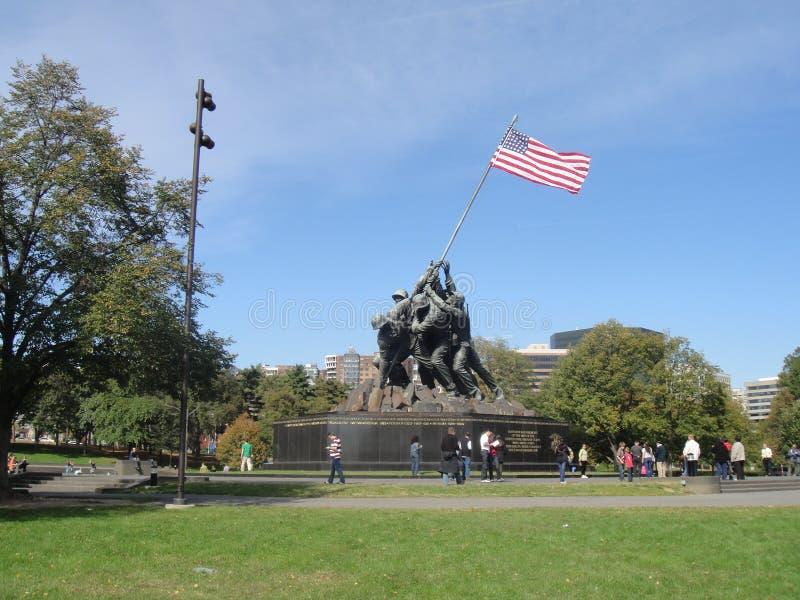 美国海军陆战队战争纪念建筑 免版税库存照片