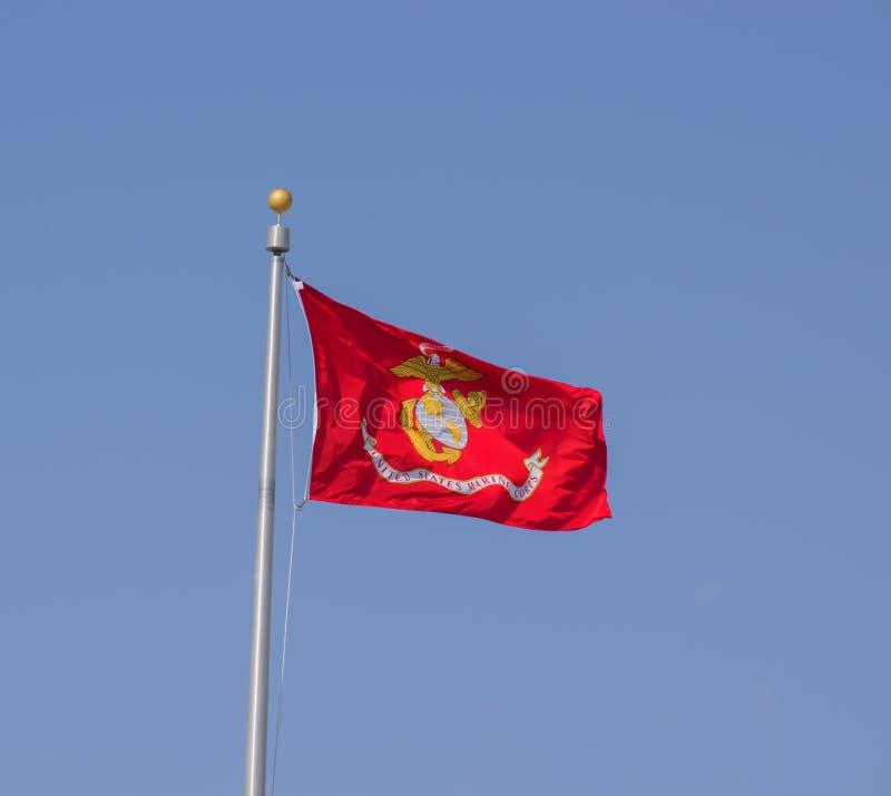 美国海军陆战队旗子 免版税库存照片