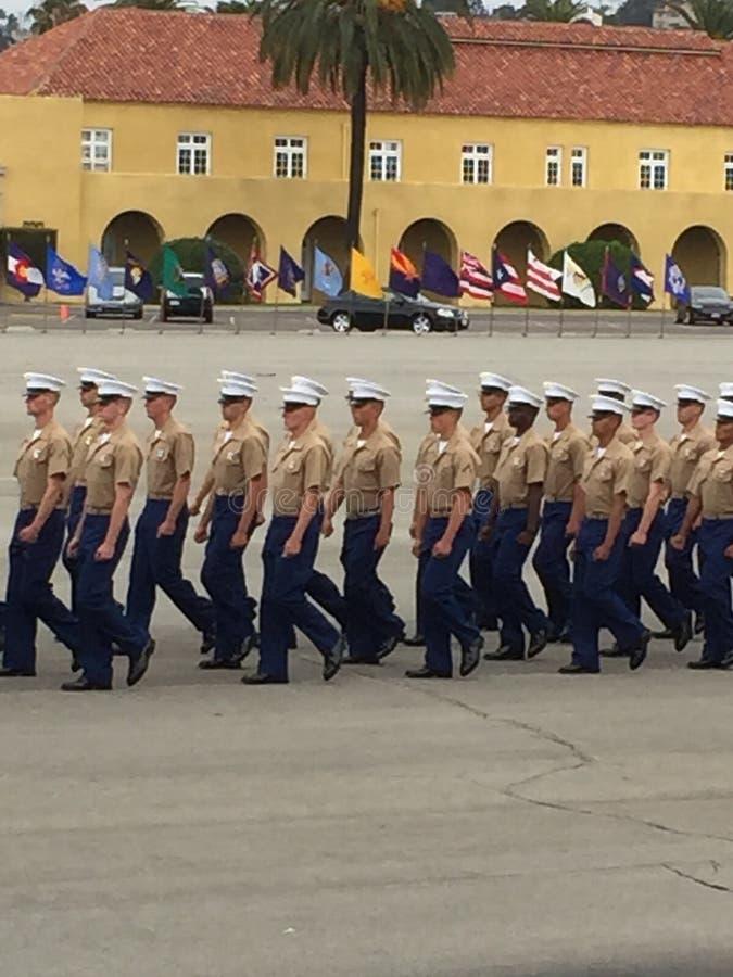 美国海军陆战队毕业 库存图片
