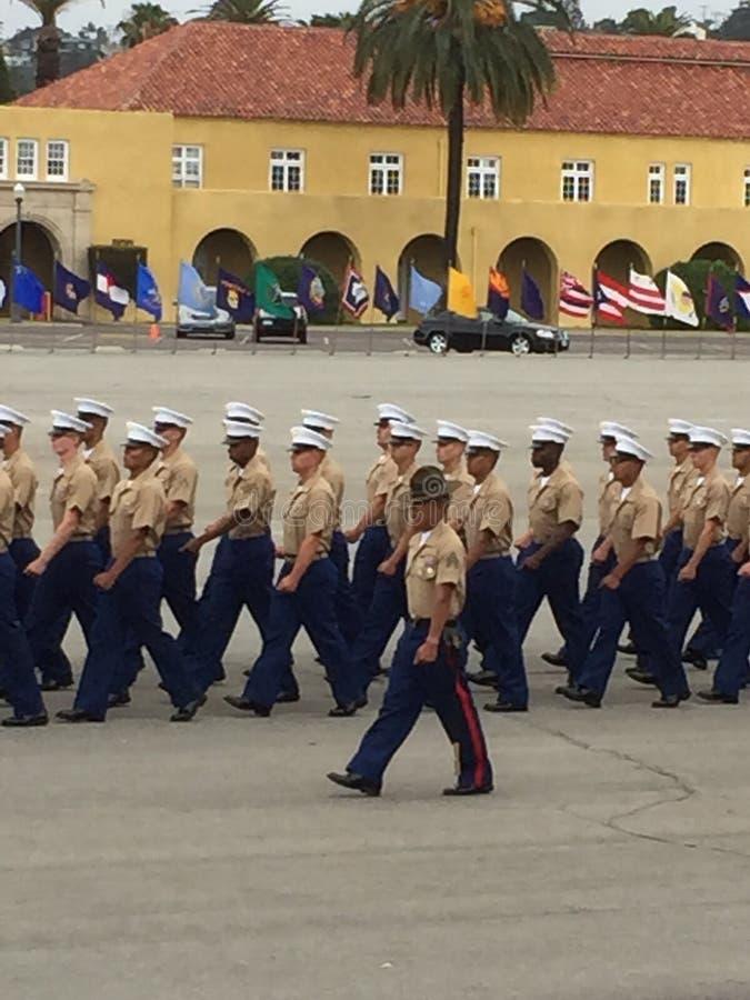 美国海军陆战队毕业 免版税库存照片