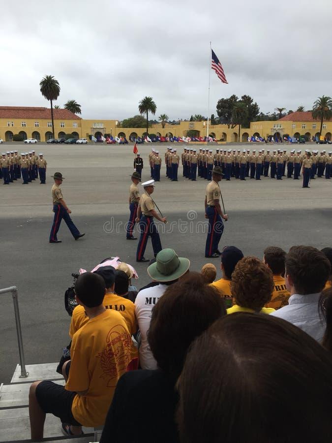 美国海军陆战队毕业 免版税库存图片