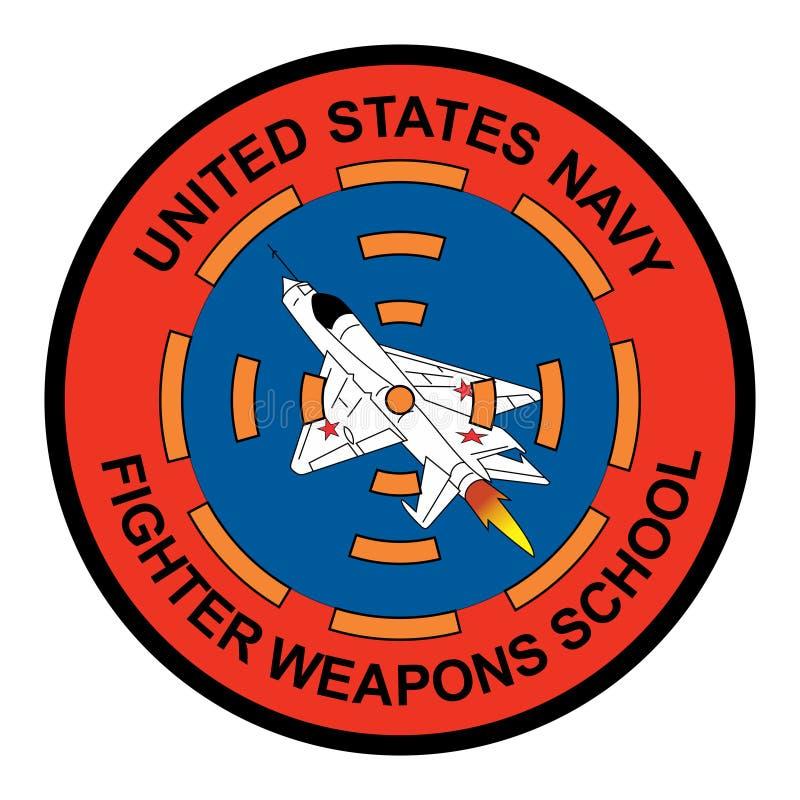 美国海军-战斗机武器学校商标 向量例证
