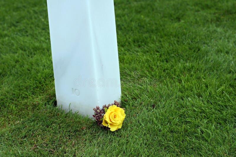 美国海滩墓地法国诺曼底奥马哈 免版税库存照片