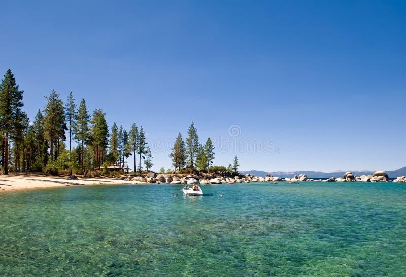 美国湖风景tahoe 库存图片