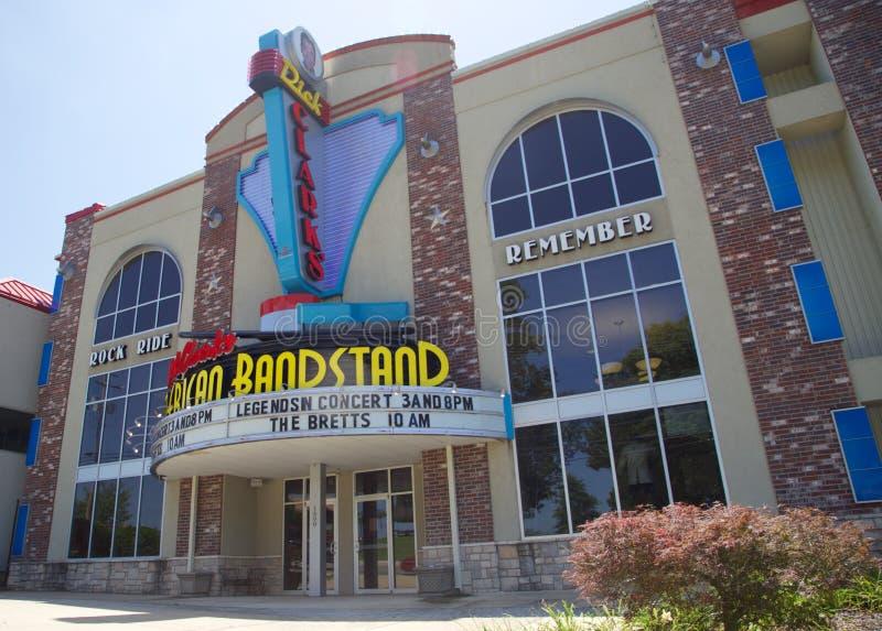 美国演奏台剧院,布兰松密苏里 库存图片