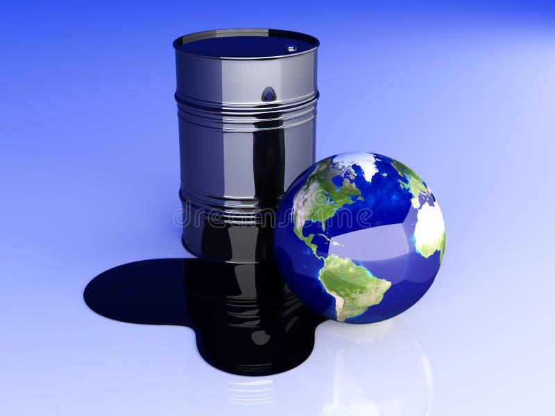 美国灾害油 向量例证