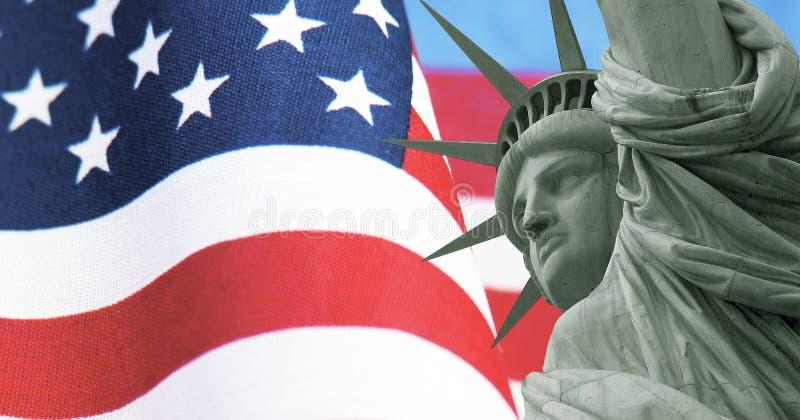 美国爱国海报、老荣耀和自由 图库摄影