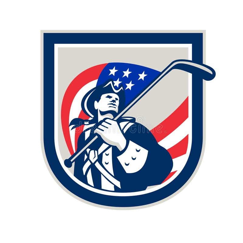 美国爱国者冰球盾 皇族释放例证