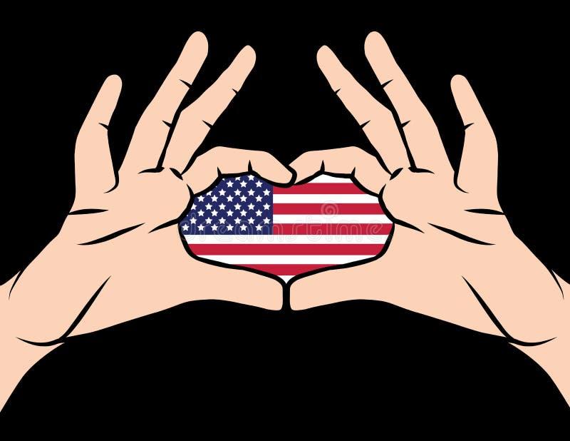 美国爱国者天传染媒介五颜六色的横幅  库存例证