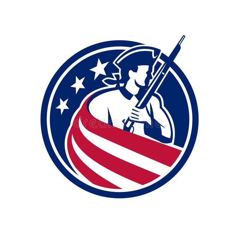 美国爱国者美国旗子象 库存例证