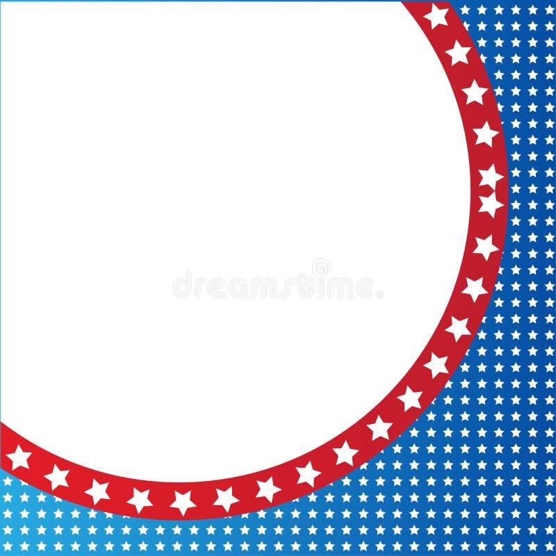 美国爱国边界,背景,与星 库存例证