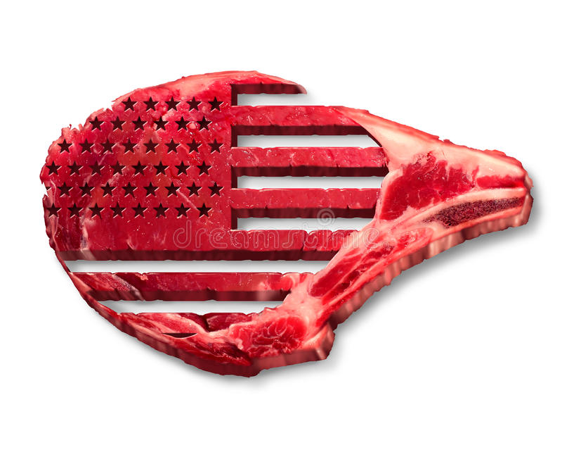 美国牛肉产业 向量例证