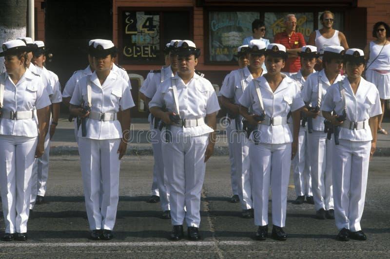 美国独立日在Ensenada,墨西哥 免版税库存照片