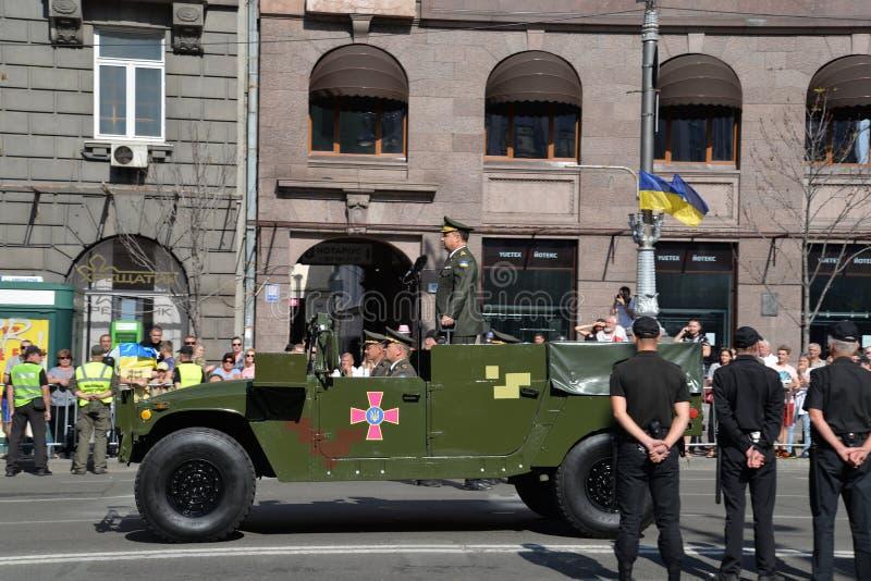 美国独立日游行在Kyiv 2018年 图库摄影
