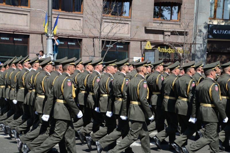 美国独立日游行在Kyiv 2018年 库存照片
