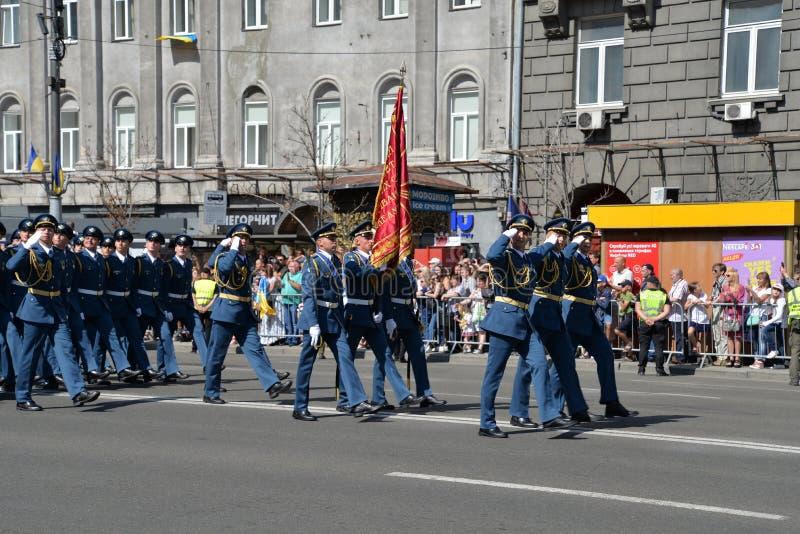 美国独立日游行在Kyiv 2018年 库存图片