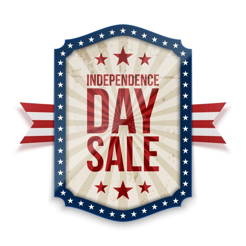 美国独立日销售横幅 向量例证