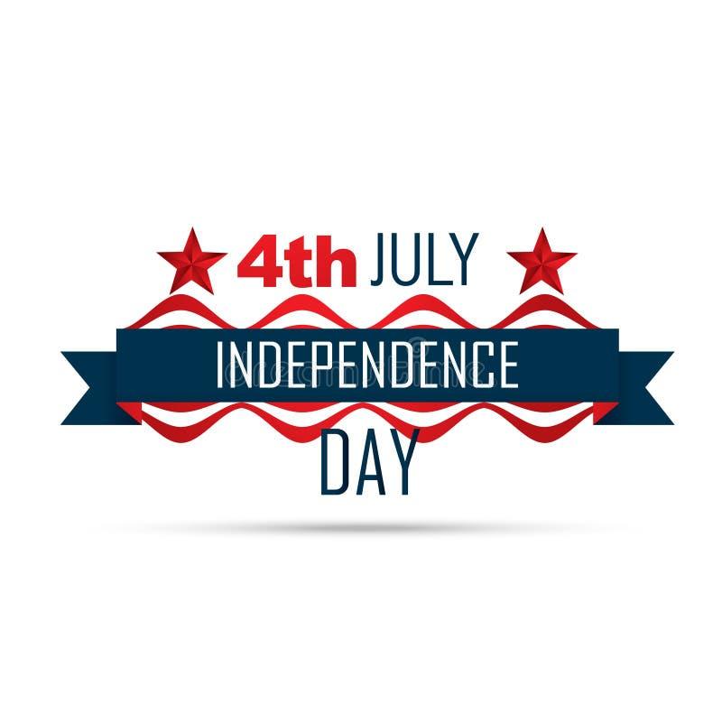 美国独立日 向量例证