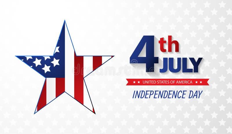 美国独立纪念日美国独立日 抽象背景 向量 向量例证