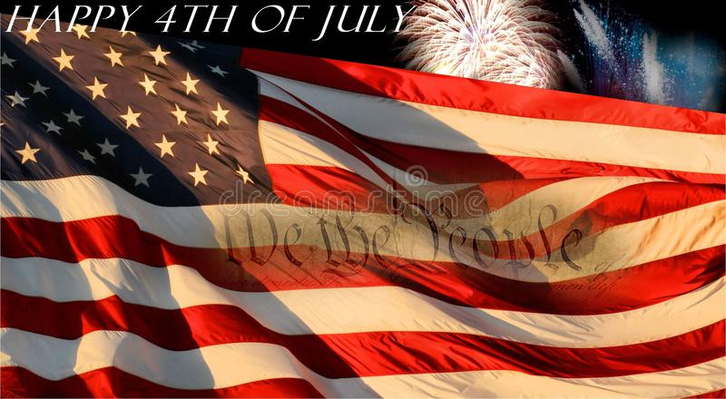 美国独立纪念日背景 免版税库存照片
